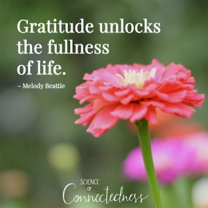 Gratitude unlocks the fullness of life. - Melody Beattie