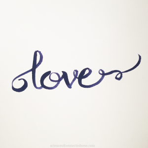 "Hand Lettered ""love"""