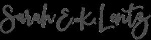 Sarah E. K. Lentz script font
