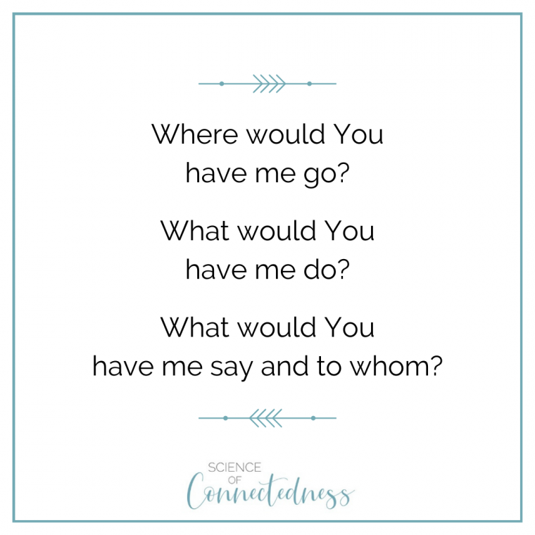 Where would You have me go?